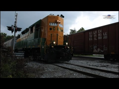 GTRA 819 and CAGY 2777 Meet at the KCS/CAGY Junction-Columbus Mississippi