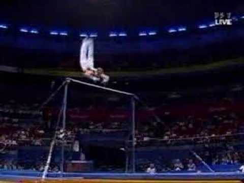 Mens Gymnastics High Bar Releases And Dismounts
