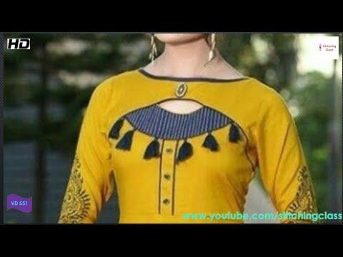 Latest And Stylish Kurti Neck Design Cutting And Stitching Very Beautiful Neck Design For Kurti Youtube