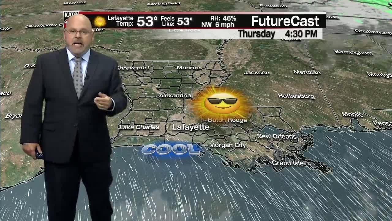 KATC rob's forecast Wednesday November 13th