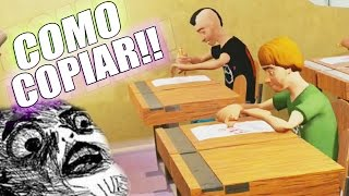 COMO COPIAR EN UN EXAMEN !! - Highschool 101 | Fernanfloo