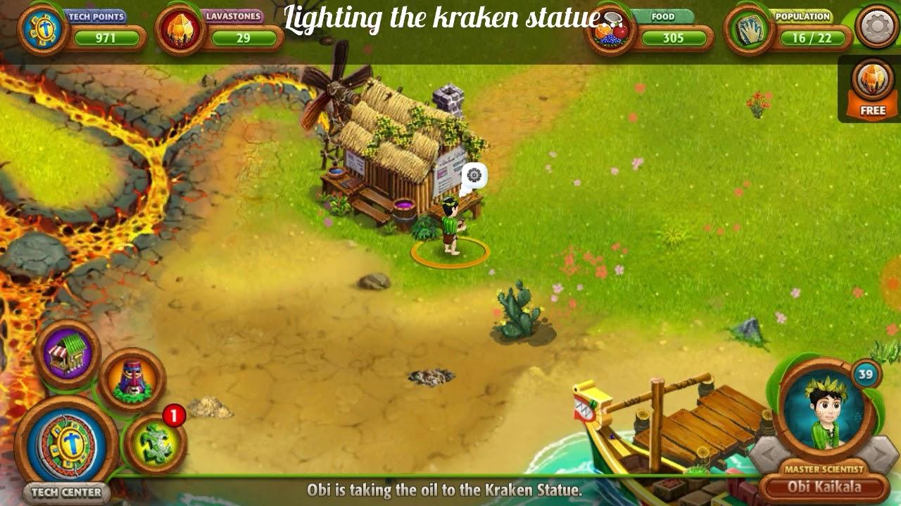 Vv origins 2     Lighting the kraken statue by Just-game Just-fun