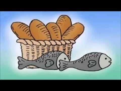 Afbeeldingsresultaat voor afbeelding 5 broden en 2 vissen
