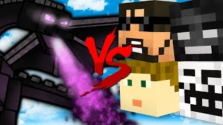 TAKING DOWN THE ENDER DRAGON | Minecraft Bed Wars 1v1v1v1