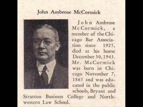 JOHN AMBROSE McCORMICK, 1865-1943