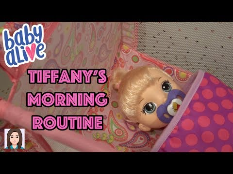 Baby Alive Tiffany's Morning Routine!