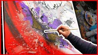 Comment peindre un tableau art abstrait à la peinture acrylique | Goliath