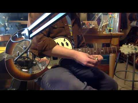 Jake demos a 2000s National Resolectric electric resonator guitar (acoustic only)