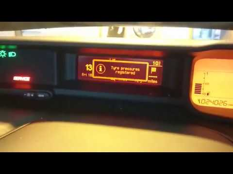 Citroen C3 Picasso Tyre Pressure Reset (under inflation initialisation)