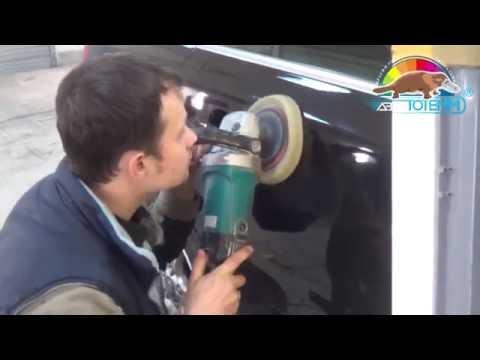 """Локальный ремонт вмятины на двери и локальная покраска автомобиля Volvo в автосервисе """"АвтоТОТЕММ"""""""