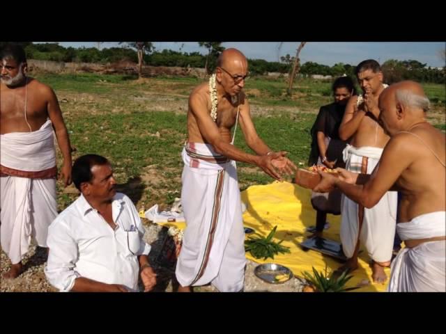 Srirangam Srimath Andavan Ashramam-Sriperumbuthur site bhoomi puja,26-7-2016