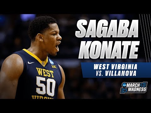 West Virginias Sagaba Konate put up a strong performance in the Sweet 16
