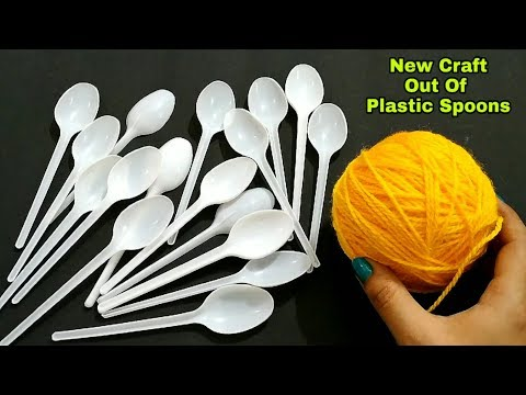 Amazing Craft Idea Out Of Waste Disposable Plastic Spoon and Wool | Home Decor Idea