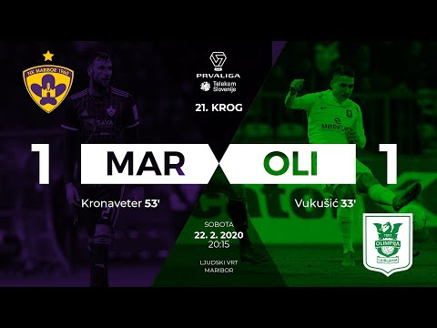 21.krog: Maribor - Olimpija 1:1 ; Prva liga Telekom Slovenije 2019/2020