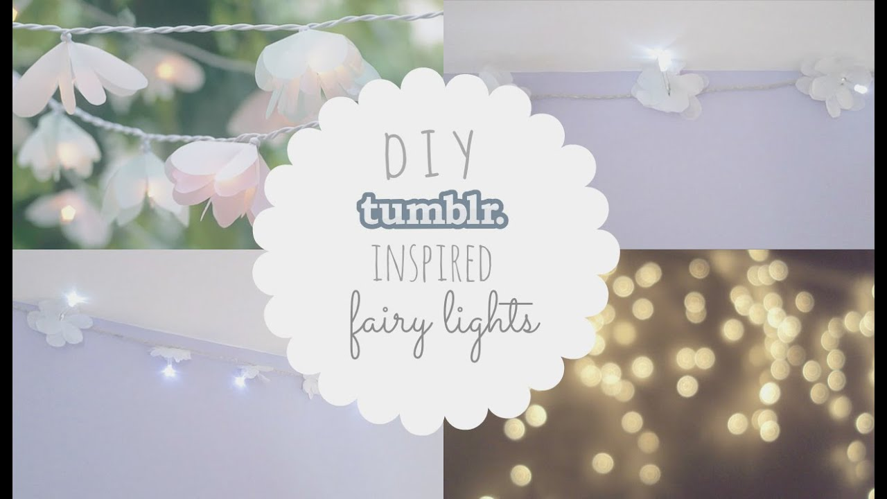 DIY Tumblr Inspired Flower Fairy Lights! - YouTube