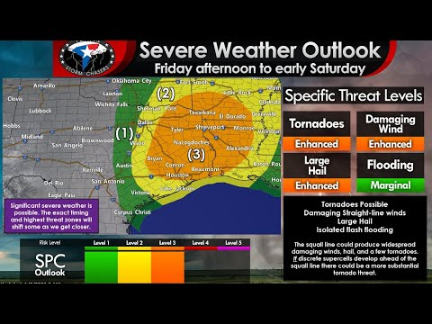 Briefing On Friday, January 10, Severe Weather Chances