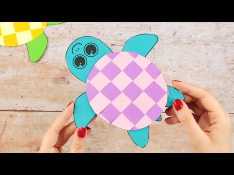 Paper Crafts for Kids - Paper Weaving Turtle Craft for Kids