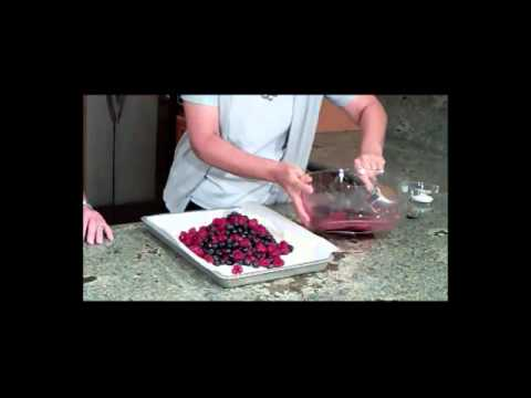 Rustic Berry Tart with Sweet Cinnamon Cream by Designing Dishes