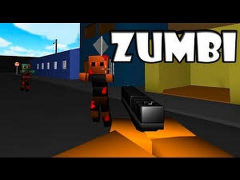 com cuber gamer pasando medo  zombi  block