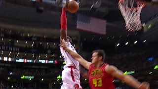 Patrick Patterson Driving Dunk Down The Middle On Hawks! |  12.03.16.