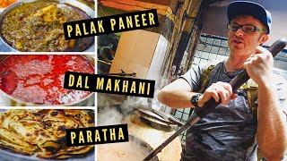 BEST PUNJABI FOOD in Amritsar: DAL MAKHANI + PALAK PANEER at Kesar Da Dhaba 100-Year-Old Restaurant!