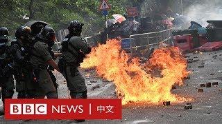 香港示威:香港警方進入大學校園範圍施放催淚彈及橡膠子彈- BBC News 中文