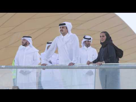HH the Emir Sheikh Tamim bin Hamad Al Thani Visits National Museum of Qatar