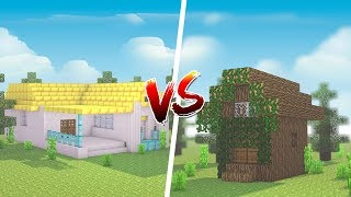 Minecraft: CASA DE RICO VS. CASA DE POBRE ‹ JUAUM ›