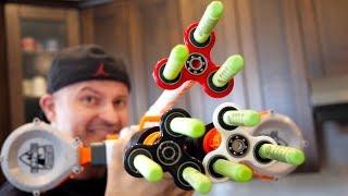 NERF WAR: FIDGET SPINNER GUN 2! thumbnail