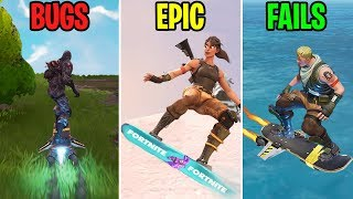 NOUVEAU HOVERBOARD EN FORTNITE! BUGS vs EPIC vs FAILS - Moments drôles Fortnite