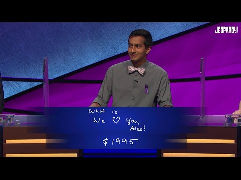 Thor - Alex Trebek gets choked up and emotional on Jeopardy.