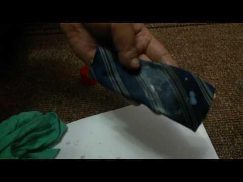 Как очистить замазку от одежды