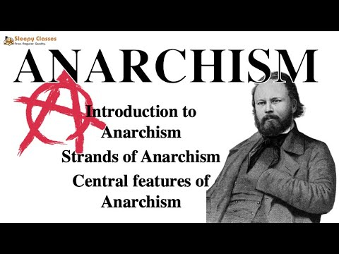 Political Science Optional for UPSC - Anarchism - A. 8. g  (Political Ideologies)