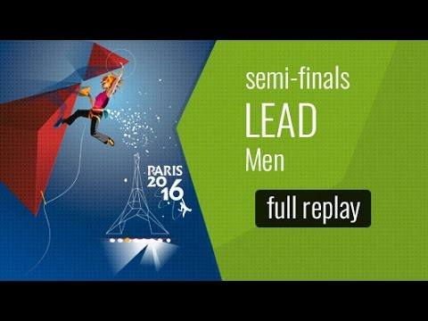 IFSC World Championships Paris 2016 - Lead - Semi-Final - Men