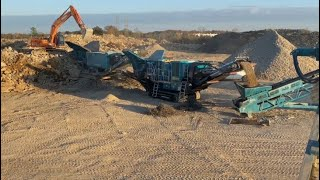 Powerscreen Jaw and Impact Crusher in C&D application