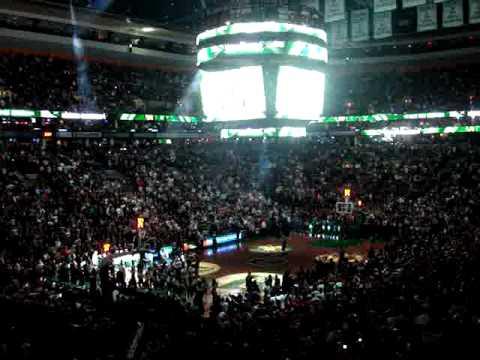 Boston Celtics 2007 Home Opener intro Garnett, Pierce, Allen