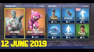Fortnite ITEM SHOP 12 June 2019 | Love Ranger Skin, Cuddle Team Leader Skin, Pick it up Emote