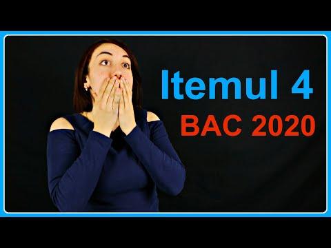 Rezolvăm Itemul 4 De La BAC (2020) | Examen.md