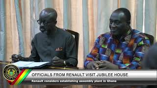 Officials from Renault Visit Jubilee House