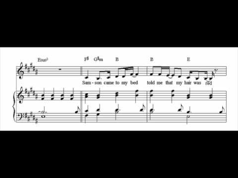 Regina Spektor: Samson -- With Sheet Music