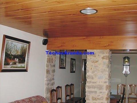 Cielorraso de madera youtube for Catedrales para techos de casas
