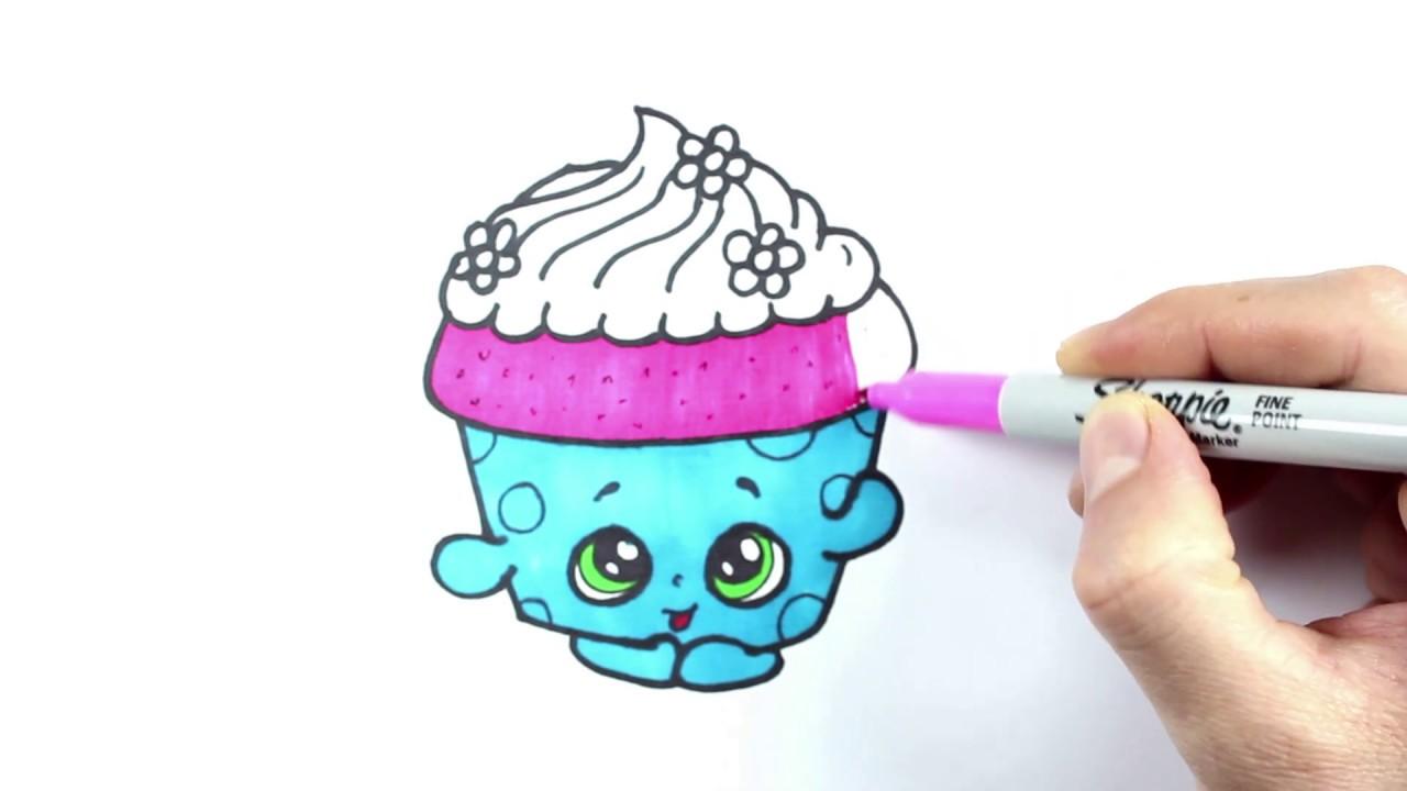 Shopkins Drawing And Coloring Cicibici çizimi Ve Boyama Youtube