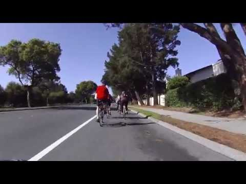 bicycling from Palo Alto to San Francisco via Skyline (HD)