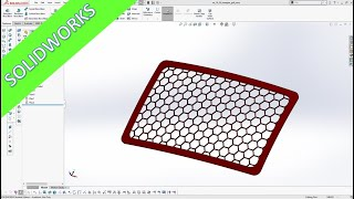 """Hexagon Grill - """"easy"""" - SolidWorks 2020 Training - Part Design"""