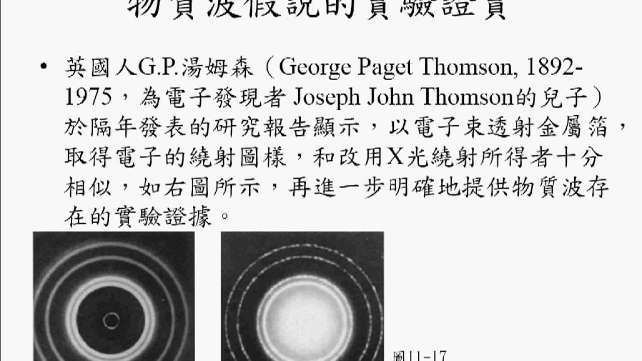 11-3(2)物質波假說的實驗證實 - ...