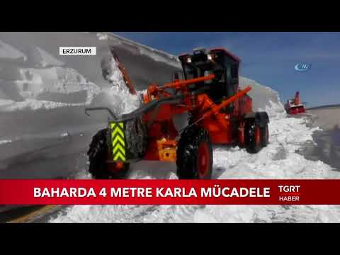 Yer Erzurum: Baharda 4 Metre Karla M�le