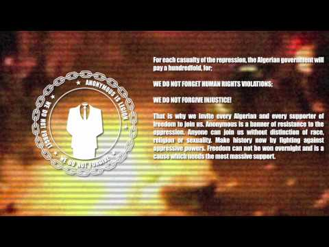 Anonymous Press Release: A Warning Message to the Algerian Government