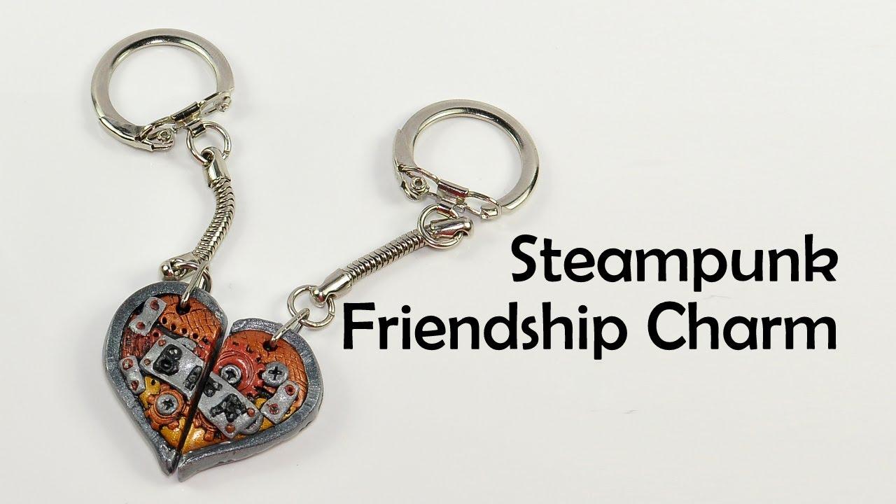 steunk friendship charm s polymer clay tutorial