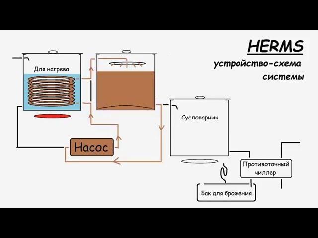 HERMS пивоварня. схема