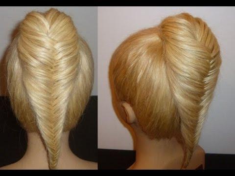 Косичка Рыбий хвост. Красивая Прическа для средних и длинных волос. Плетение косичек
